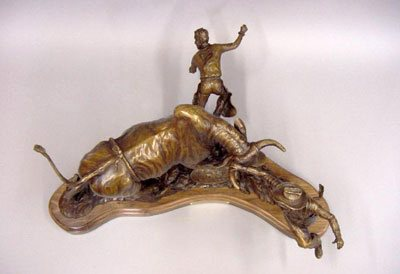 Edd Hayes Sculptor Legends Of Rodeo Kajun Kidd Dancing